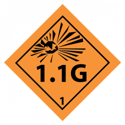 1.1G Sticker 5 x 5cm (8 pcs)