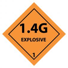 1.4G Sticker 10x 10cm (4 pcs)