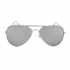 Aviator Pilotenbril Zilver Spiegel