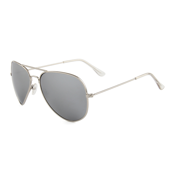 0482ae23030b21 Aviator Pilotenbril Zilver Spiegel