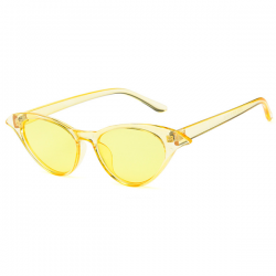 Cat Eye Sunglasses Yellow Butterfly