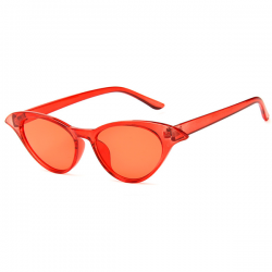 Cat Eye Sunglasses Red Butterfly