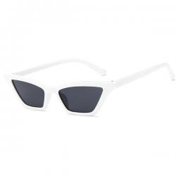 Cat Eye Sunglasses White Small