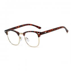 Computerbril - Anti Blauwlicht bril - Clubmaster - Leopard