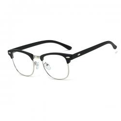 Computerbril - Anti Blauwlicht bril - Clubmaster - Mat Zwart
