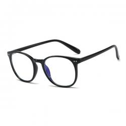 Computerbril - Anti Blauwlicht Bril - Rond Retro Model - Zwart