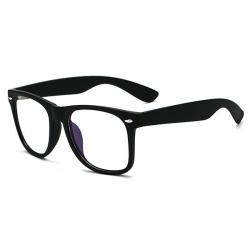 Computerbril - Anti Blauwlicht Bril - Wayfarer - Mat Zwart
