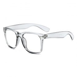 Computerbril - Anti Blauwlicht Bril - Wayfarer - Transparant