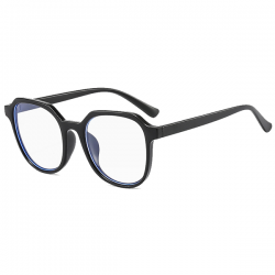 Computerbril - Anti Blauwlicht Bril - Retro Elton - Mat Zwart