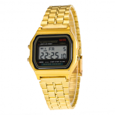 Digitaal Retro Horloge Goud Zwart