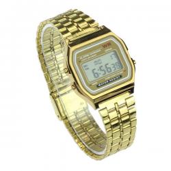 Digitaal Retro Horloge Goud