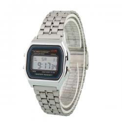 Digitaal Retro Horloge Zilver