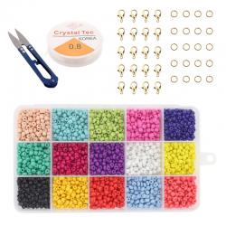 Sieraden Set - Kralen Set - 3mm - 15 kleuren - 7500 stuks