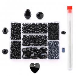 Sieraden Set - Kralen Set - Zwart - 2620 stuks