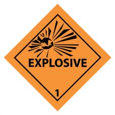 Explosive Sticker 10 x 10cm (4 pcs)