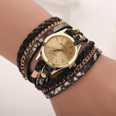 Geneva Horloge Armband Zwart