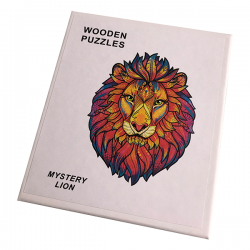 Houten Puzzel - Leeuw - A5 formaat - 95 stukjes