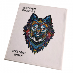 Houten Puzzel - Wolf - A5 formaat