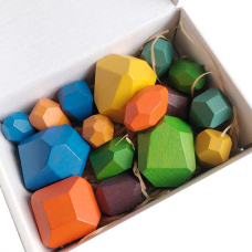 Houten Stapelblokken - Set van 16 stuks