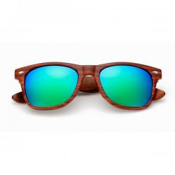 Wooden Wayfarer Green Blue Mirror 2018