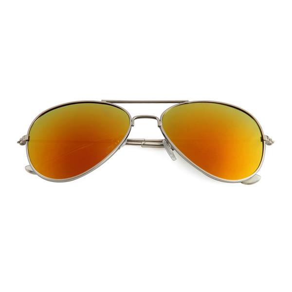 1442d30ce67f54 Kinder Pilotenbril Goud Rood Spiegel