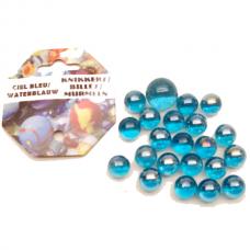 Knikkerset Waterblauw - 21 stuks