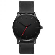 Luxe Herenhorloge - Zwarte Band - Zwarte Wijzerplaat