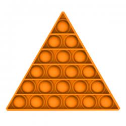 Pop It Fidget - Pop Bubble - Triangle - Orange