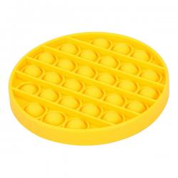 Pop It Fidget - Pop Bubble - Round - Yellow