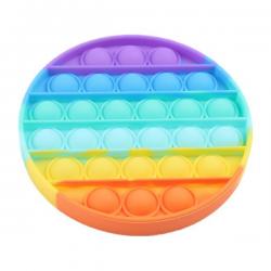 Pop It Fidget - Pop Bubble - Round - Rainbow