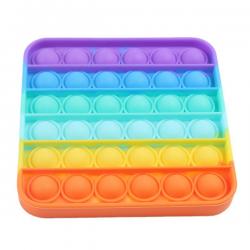 Pop It Fidget - Pop Bubble - Square - Rainbow