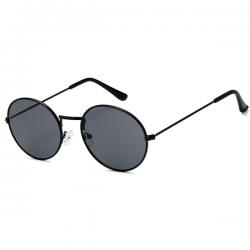 Retro Zonnebril Ovaal Zwart