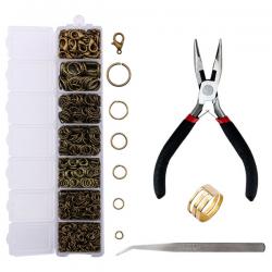 Sieraden Set - Set Ringen - Armbanden - Kettingen - Koperkleurig - 1510 stuks