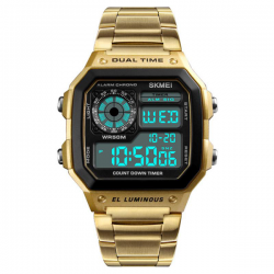 Skmei Digital Retro Watch Gold