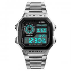 Skmei Digital Retro Watch Silver