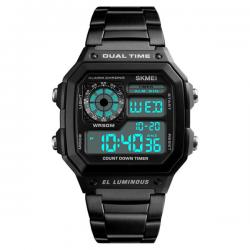 Skmei Digital Retro Watch Black