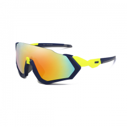 Sport Sunglasses Rocker Black Yellow Rainbow