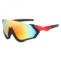 Sport Sunglasses Rocker Black Red Rainbow