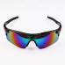 Sport Zonnebril Zwart Rainbow