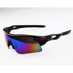 Sport Sunglasses Black Rainbow