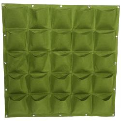 Verticale Tuin - Hangende Plantenzak - 25 Vakken - 100 x 100 cm - Groen