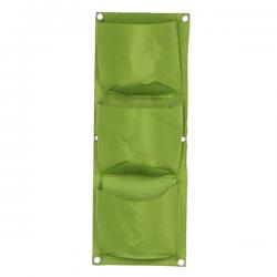 Verticale Tuin - Hangende Plantenzak - 3 Vakken onder elkaar - 22 x 60 cm - Groen