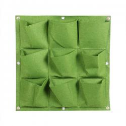 Verticale Tuin - Hangende Plantenzak - 9 Vakken - 50 x 50 cm - Groen