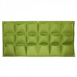 Verticale Tuin - Hangende Plantenzak - 18 Vakken - 100 x 50 cm - Groen