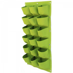 Verticale Tuin - Hangende Plantenzak - 18 Vakken - Ronde Bodem - 50 x 100 cm - Groen