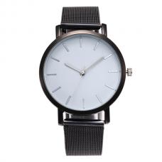 Vintage Mesh Horloge Zwart Wit