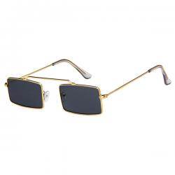 2d2505c7196f16 Vintage Retro Zonnebril Vierkant Goud Zwart