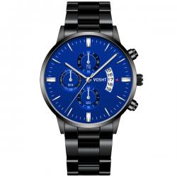 Vosht Black Blue Steel - Men Watch
