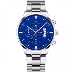 Vosht Silver Blue Steel - Heren Horloge