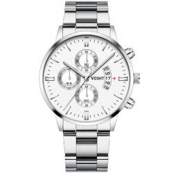 Vosht Silver White Steel - Heren Horloge